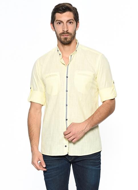 Dewberry Hakim Slim Fit Gömlek Sarı